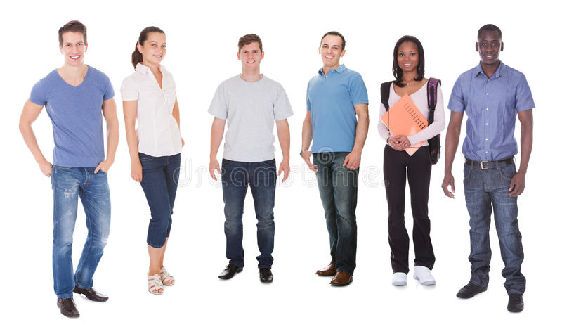 Happy multiethnic fashion models and student royalty free stock images
