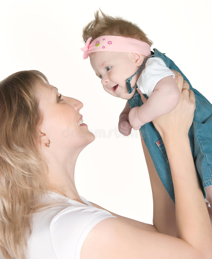 Download Happy mum with the babe stock photo. Image of lifestyles - 24445492