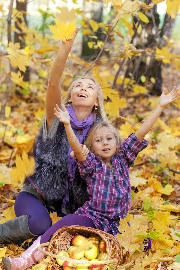 Happy mum and the daughter royalty free stock photo