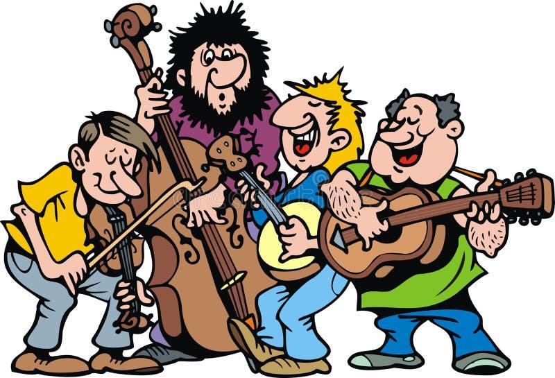 Happy music band vector illustration