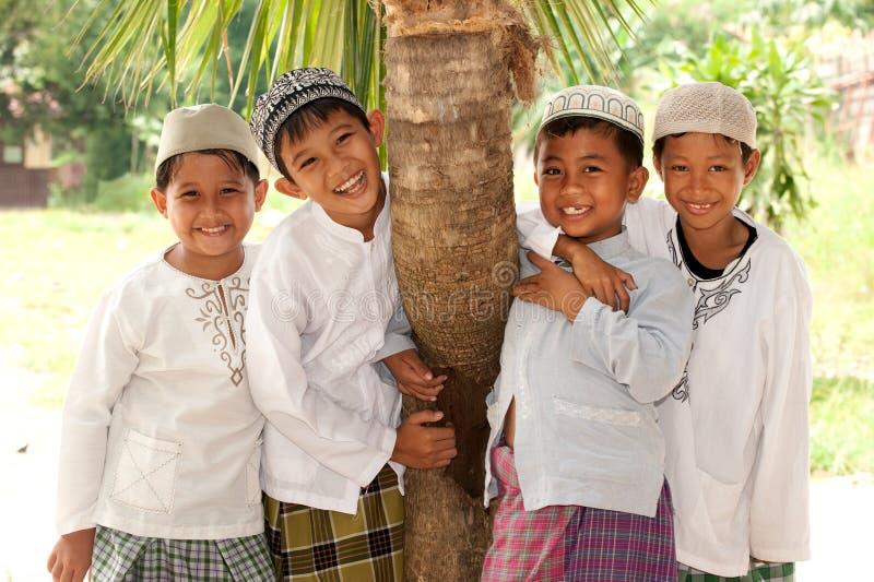 Happy Muslim Kids, Friendship royalty free stock images