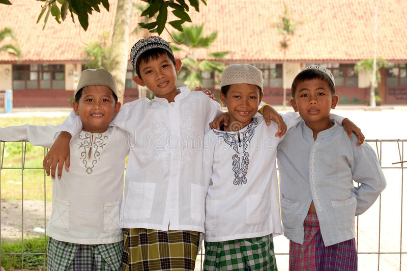 Happy Muslim Kids, Friendship royalty free stock photography