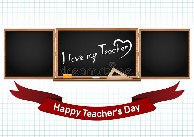 Happy National Teachers Day. Greeting card royalty free illustration