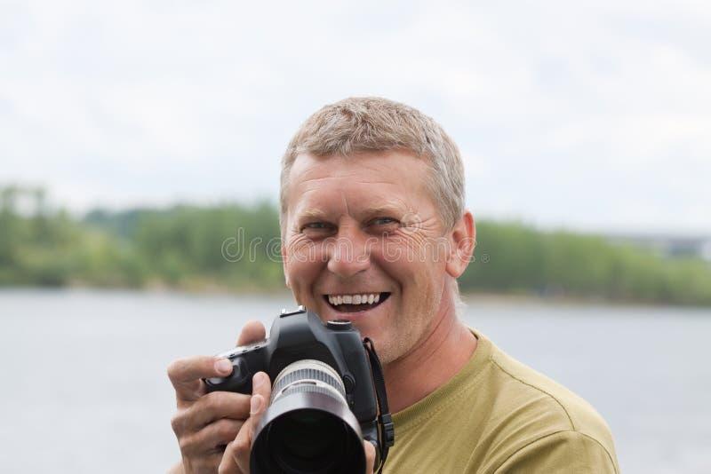 Happy nature photographer