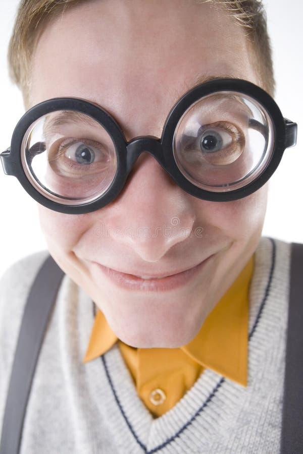 Happy nerd royalty free stock photos