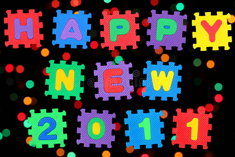 Download Happy New 2011 stock illustration. Image of blurry, message - 16267427