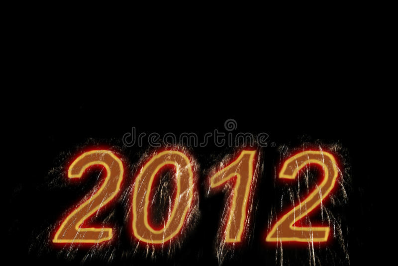 Happy new 2012 year. stock photography