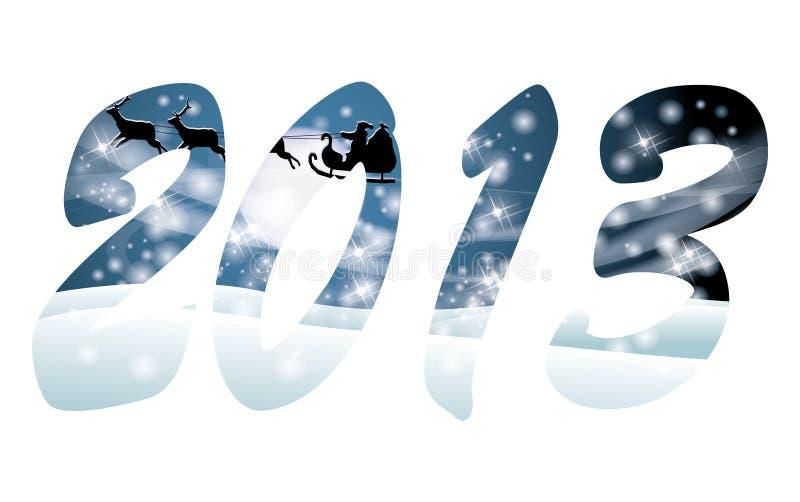 Happy New 2013 year card with Santa