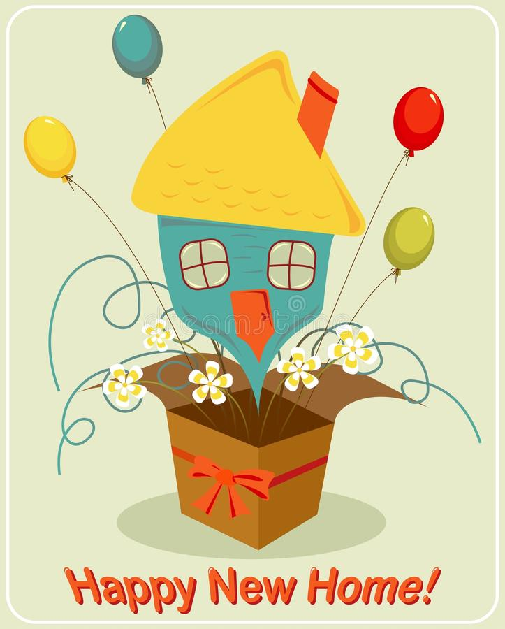 Happy New Home Stock Vector Image - New home clipart
