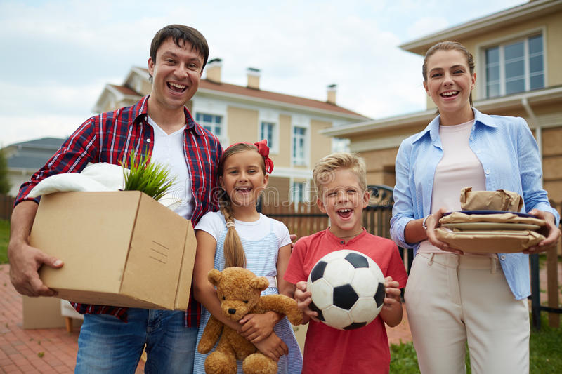 Happy New Owners stock image