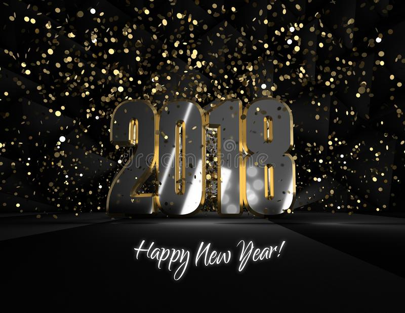 Happy new year 2018 Â¡welcome! stock image
