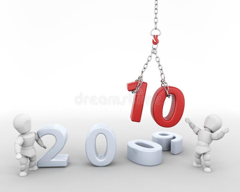 Happy New Year! stock illustration
