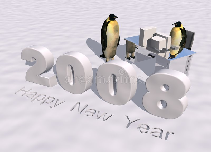 Download Happy new year 2008 stock illustration. Image of decoration - 3222099