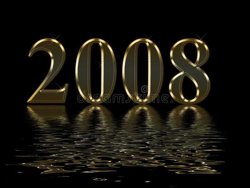 Download Happy New Year 2008 Stock Photos - Image: 3854673