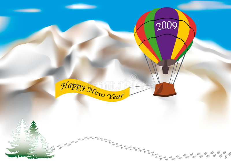 Happy New Year 2009 vector illustration