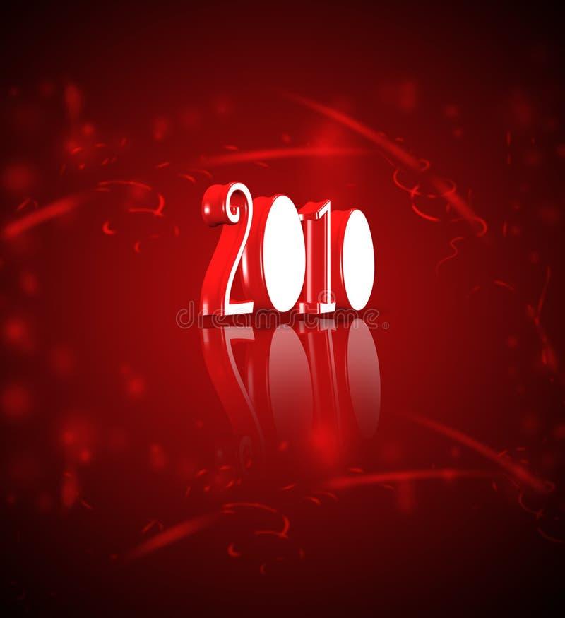 Happy new year 2010 ! stock image