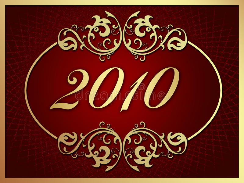 Download Happy New Year 2010 stock illustration. Illustration of date - 9551972