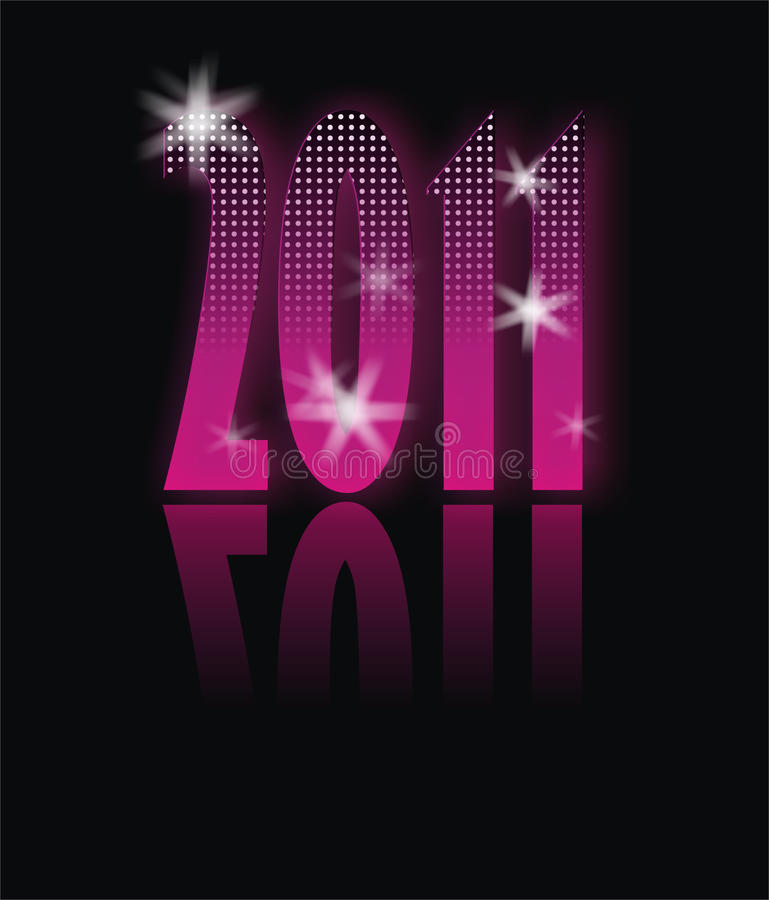 Download Happy new year 2011 stock illustration. Image of glamour - 14862108
