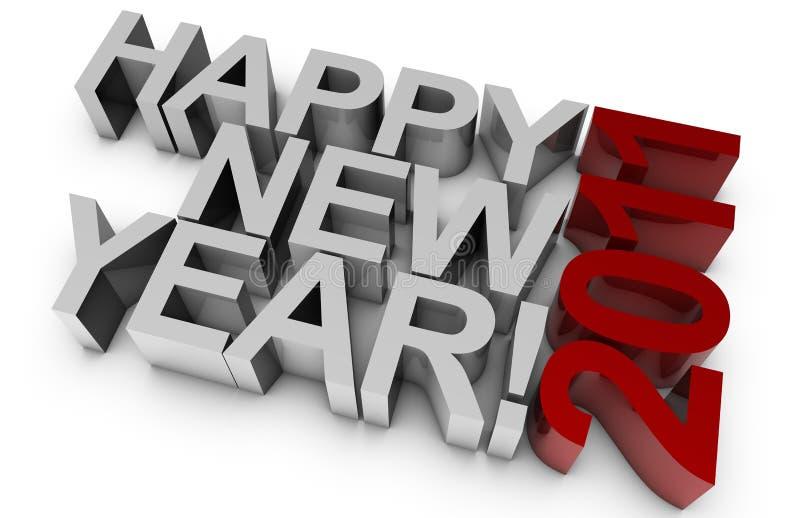 Happy New Year! 2011 stock illustration