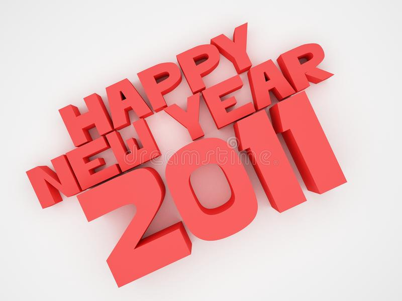 Happy New Year 2011 stock images