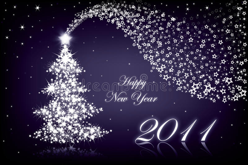 Happy New Year 2011 stock image