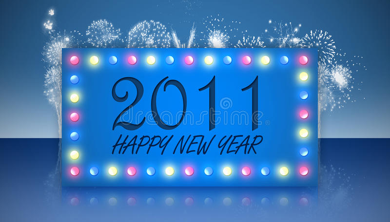 Download Happy new year 2011 stock illustration. Image of blue - 17008972