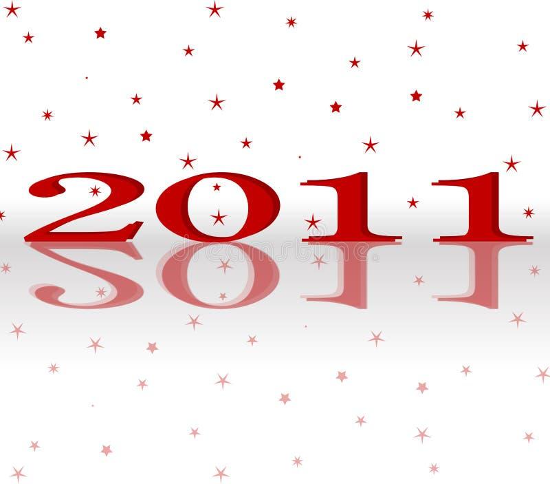 Happy New Year 2011 stock photo