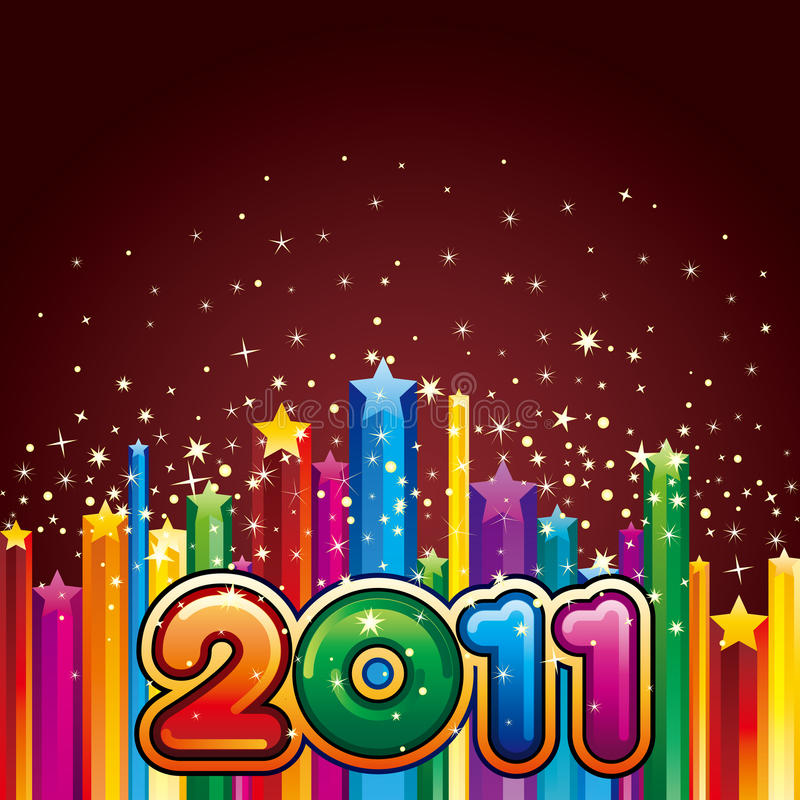 Free Happy New Year 2011 Stock Photography - 17360082
