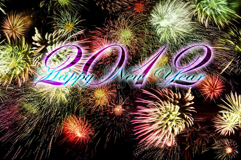 Happy new year - 2012. New years eve for 2012 - huge sparkling firework royalty free stock image