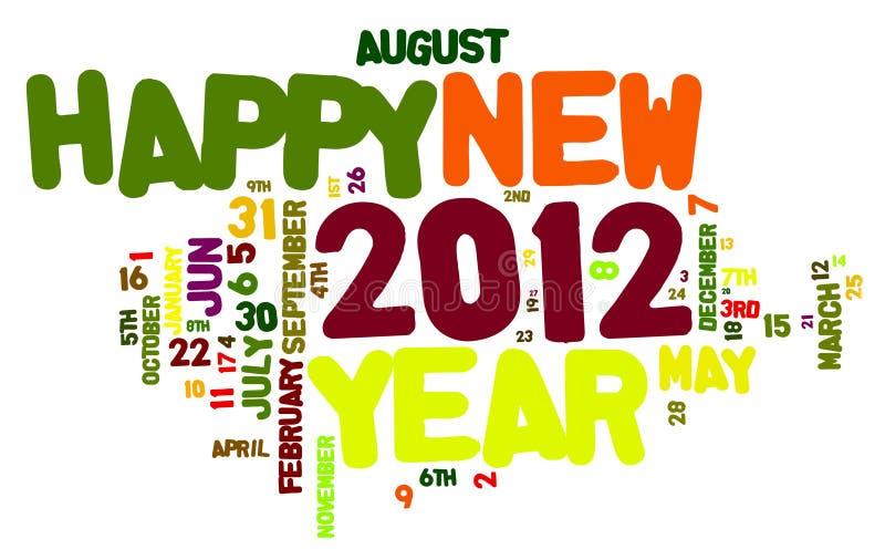 Happy New Year 2012 stock illustration