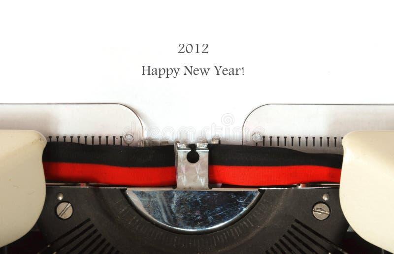 Happy New Year 2012 royalty free stock photo