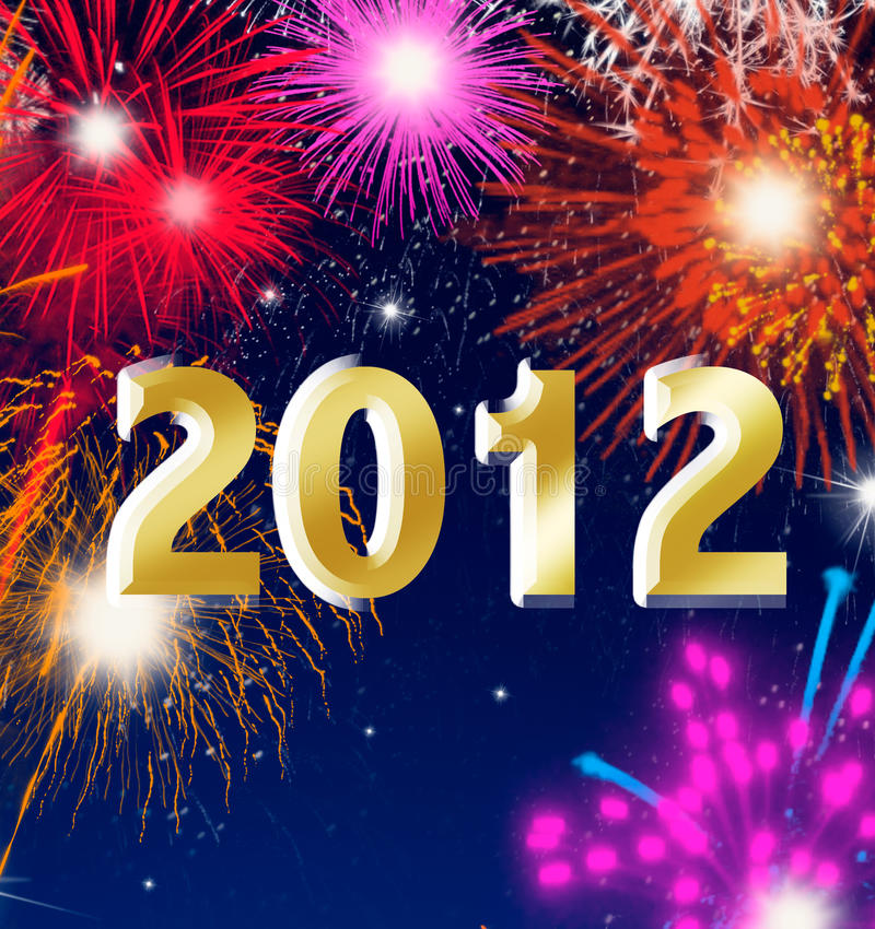 Download Happy New Year 2012 With Fireworks Stock Illustration - Illustration of dark, festival: 20987174