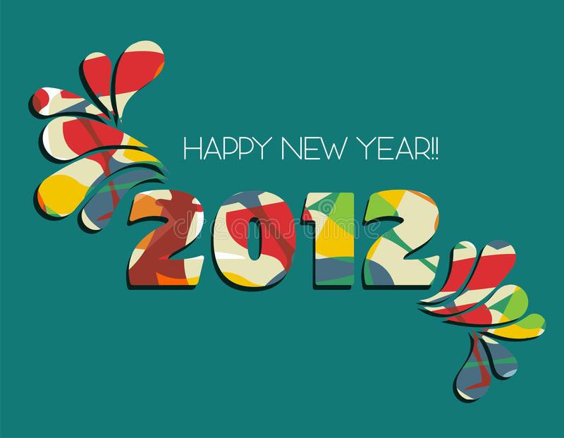 Happy New Year 2012 in green background