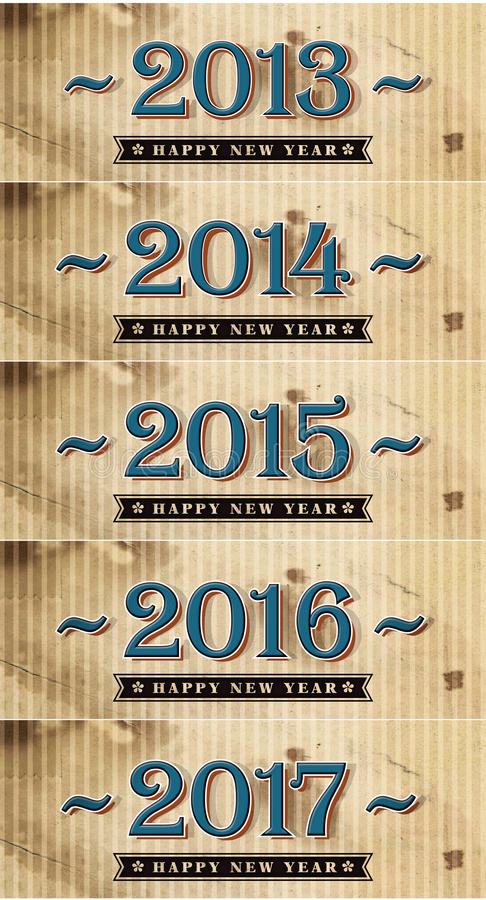 Download Happy New Year 2013-2017 stock illustration. Illustration of brown - 28380993