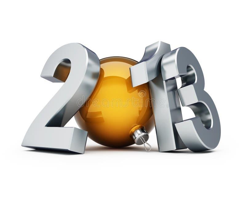 Happy new year 2013 royalty free illustration