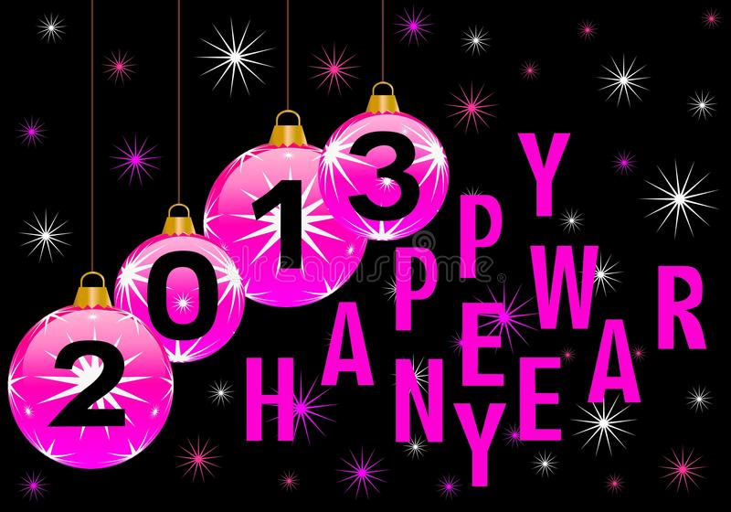 Download Happy new year 2013 stock illustration. Image of night - 25982240