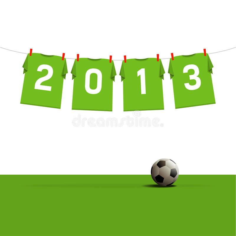 Download Happy New Year 2013 stock vector. Image of grass, jersey - 26332353
