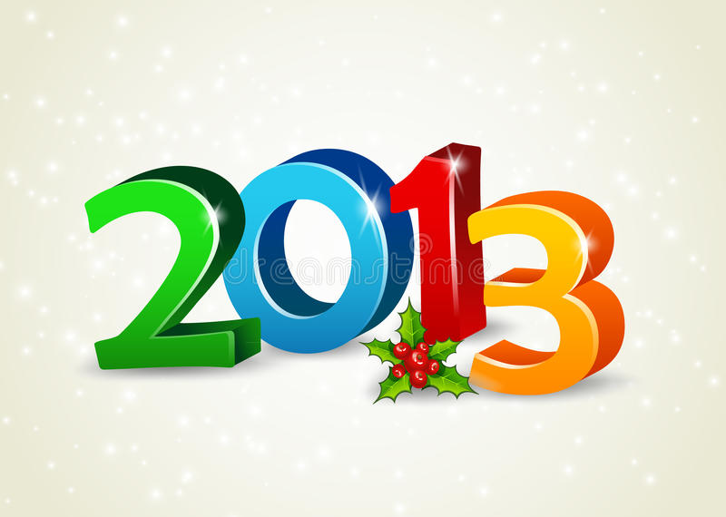 Download Happy new year 2013 stock vector. Illustration of card - 27616423