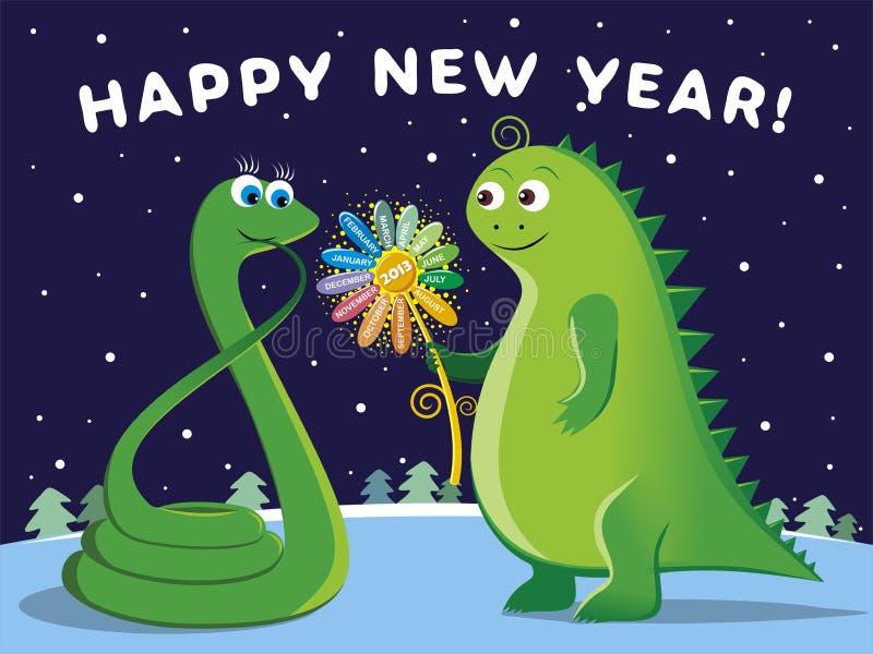 Happy New Year 2013! royalty free illustration