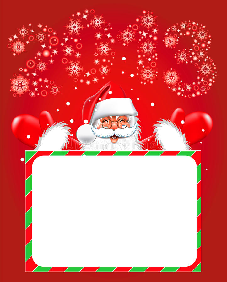 Download Happy New Year 2013. Christmas. Santa Claus Stock Vector - Illustration of greeting, smile: 26182867