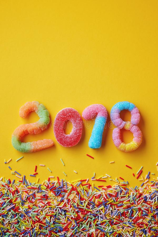 Free Happy New Year 2018 Stock Image - 104791831