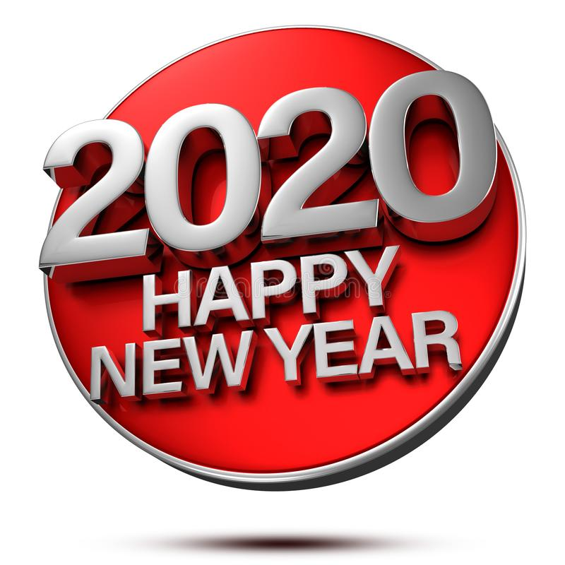 Free Happy New Year 2020 3D.2020 3d. Royalty Free Stock Images - 154996739