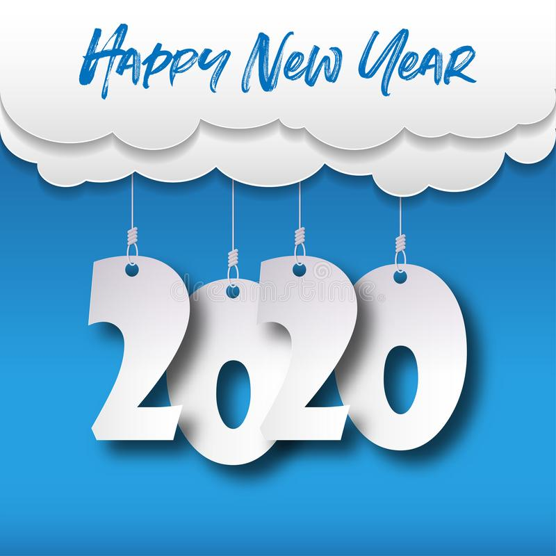 Free Happy New Year 2020 . Greetings Card. Abstract Background. Vector Illustration Stock Photos - 163506443