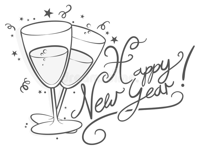 Happy New Year stock illustration