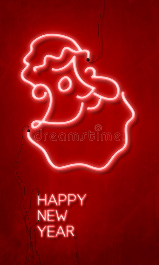 Download Happy new year stock illustration. Illustration of neon - 27826268