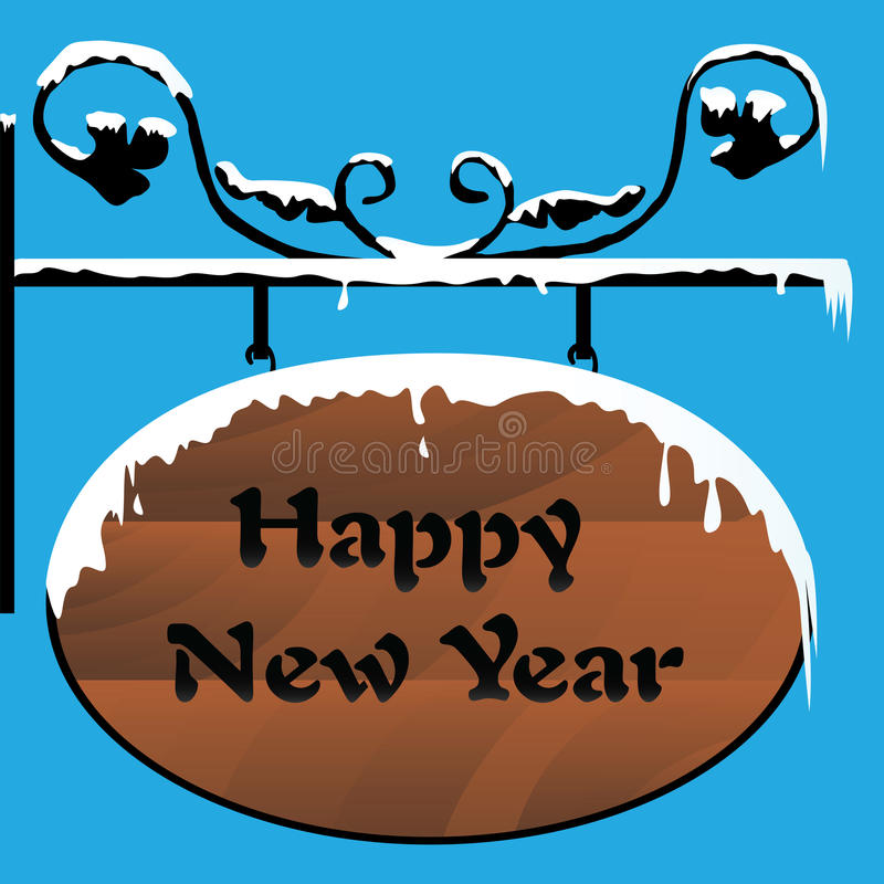 Download Happy New Year stock vector. Illustration of black, signboard - 28109110