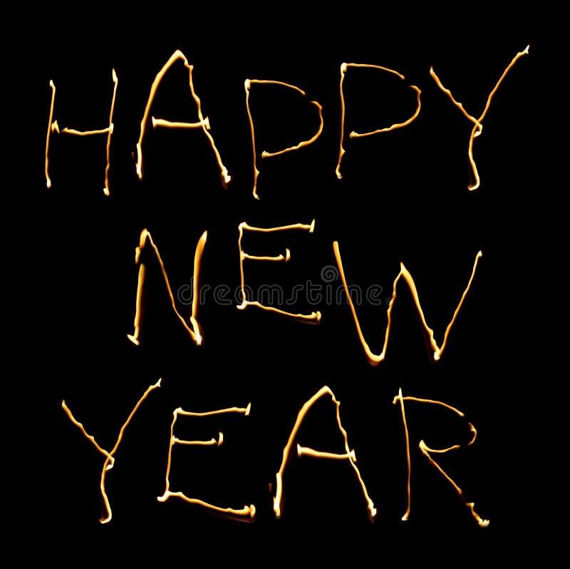 Happy new year. On black background royalty free stock photo