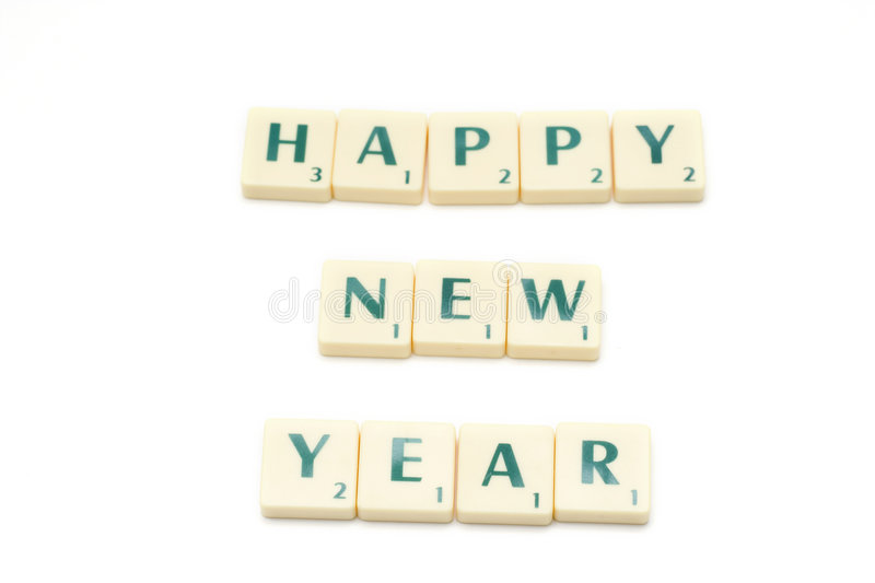 Happy New Year. Letters isolated on white royalty free stock image