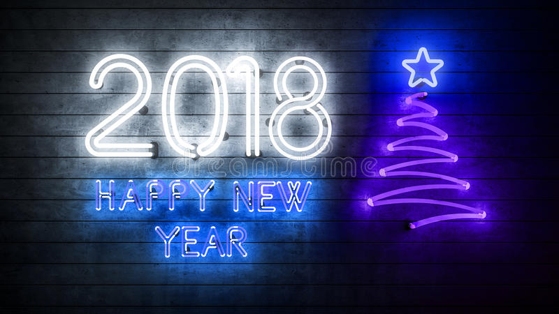 2018 Happy New Year 2018 royalty free stock photo