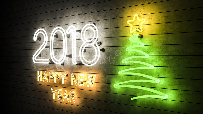 2018 Happy New Year 2018 stock photo